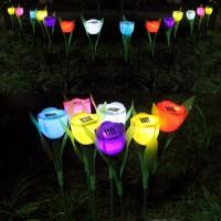 harga Lampu Taman Tancap Model Bunga Tulip Mawar Rose Tenaga Surya Matahari Solar Panel Barang Unik Garden Lamp Led White Yellow Night Tokopedia.com