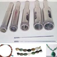 Mata Bor Batu Akik 9Bt. untuk Kalung 8mm-14mm + 1,2mm, 1,5mm