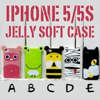 iphone 5 5s soft case jelly lucu imut casing empuk gambar warna warni