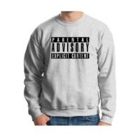 SWEATER PARENTAL ADVISORY - CattunFlecee