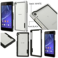 Jual Double Frame Bumper Cover Casing Case Sony Xperia Z2