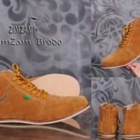 Sepatu Boot Zimzam Brodo Tan Kulit Suade