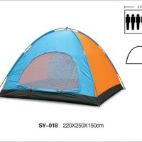 (VNTG) Tenda Dome Single Layer Kap 6 Orang Alas Terpal PE