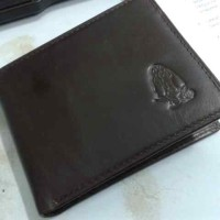Dompet Hush Puppies Leather Black textured