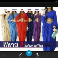 vierra 3 kaftan chiffon dengan furing P145cm