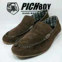 Sepatu Pichboy Slip On Slop Casual Coklat