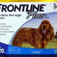 Obat Kutu Anjing Frontline Plus For Dog 10-20 Kg (3 Pipet)