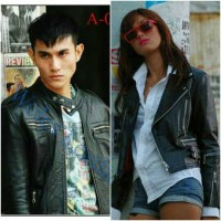 jaket kulit radit dan jani/jaket kulit artis film/jaket couple radit