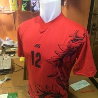 Setelan/Kostum Volly Mizuno Leaf Merah (grosir,seragam,kostim,murah)