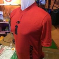 Setelan/Kostum Volly Mizuno Simple Merah(grosir,seragam,kostim,murah)
