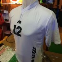 Setelan/Kostum Volly Mizuno Simple Putih (grosir,seragam,kostim,murah)