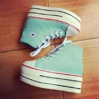 harga Sneakers Wedges Platform Hijau Tokopedia.com