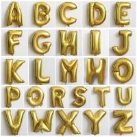 Balon Foil Huruf & Angka Emas & Perak / Gold & Silver