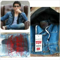 Jaket Hoodie Jumper Ariel Jeans Levis Warna Biru Muda Blue Wash Hodie