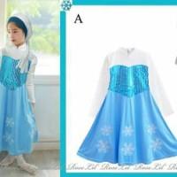 harga Dress Gamis Elsa + Jilbab Tokopedia.com
