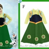 harga Dress Gamis Anna Frozen Fever  + Jilbab Tokopedia.com