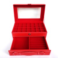Jual kotak cincin susun 2 tingkat ,kotak batu akik bacan,pancawarna, giok Murah
