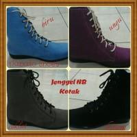 Sepatu Boot NB datar Cewe Kulit / Nabato Shoes
