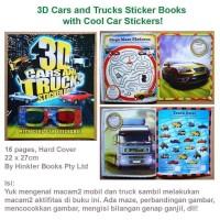 harga 3D Cars and Trucks Sticker Books with Cool Car Stickers!(US-FUN-3D-CT) Tokopedia.com
