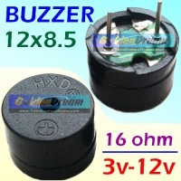 Buzzer High Quality 3-12v 16ohm 12x8.5mm Universal Buzer Sound Suara
