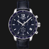 harga Tissot Quickster Chronograph Blue Leather T095.417.16.047.00 Tokopedia.com