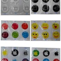 1set=6pcs Sticker Home Button Iphone / Ipad / Ipod Stiker Tombol Buton