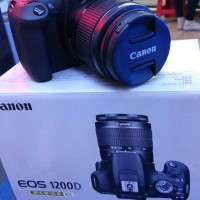 Canon EOS 1200D 18 MP, Lensa Kit 18-55mm, Hitam Free Memory 8Gb + Tas