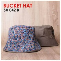 bucket hat sx042 kode b floral topi snapback