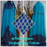 "Mukena Songket Bali ""Songket Prada Turkish"""
