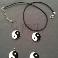 Jual kalung yin n yang, pendant choker charm Murah