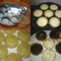 Jual snack maker 7 hole /cetakan martabak mini, pancake, serabi, dorayaki Murah