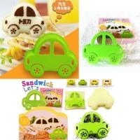 cetakan roti dan nasi bentuk mobil / bread mold car