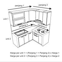 Jual cara menghitung harga kitchen set cv kembangdjati for Harga pasang kitchen set