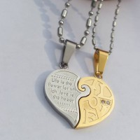 Kalung Couple - Love Gold Pair Necklace