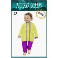 Baju Muslim Koko Kids Kuning