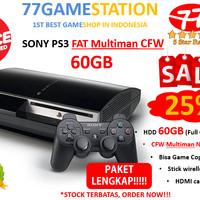 PS3 - SONY PLAYSTATION 3 FAT CFW MULTIMAN 60GB > LENGKAP & TERMURAH