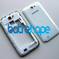 Casing Case Housing Samsung Galaxy Note 2 II GT - N7100 Putih Fullset