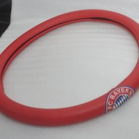 Cover Stir / Sarung Stir Motif Bordir Gambar FC BAYERN MUNCHEN Merah