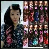 hair clip ombre curly/clip