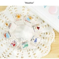 crystal unique stamp 'weather' 8pcs / set