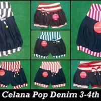 Celana Pop Denim 3-4thn