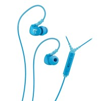 MEElectronics Sport-Fi Memory Wire In-Ear Earphones - M6P - Teal Blue