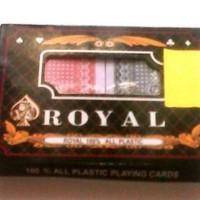 Kartu Remi Royal Double 100% plastik