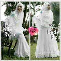 gamis lady rose jersey  syari