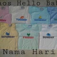 harga Kaos Hello Baby Nama Hari Ukuran S Tokopedia.com