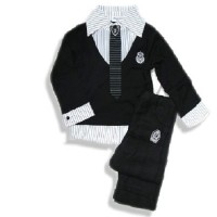 133 - B2W2 Black & White Long Tie Boyset