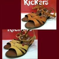 Sepatu Sendal Wedges Kickers Slop Women Wanita Santai