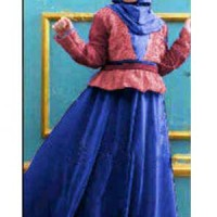 BAP3191  Baju Anak Gina Benhur, Maxi Dress Bahan Spandek Jersey Combi