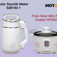 Hotor Soymilk Maker Sd6180-1 Free Hotor Mini Rice Cooker HP202N