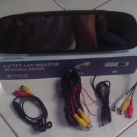 Kamera Parkir Mobil+Monitor Model Kaca Spion Interior Terbaru